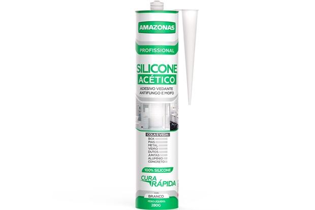 Silicone Acético para Uso Geral 280g Branco - Amazonas