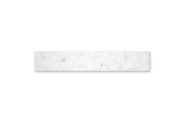 Soleira em Mármore Polido Borda Reta Branco 100x20cm - Villas Deccor