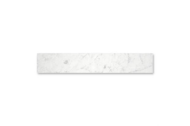 Soleira em Mármore Polido Borda Reta Branco 82x20cm - Villas Deccor