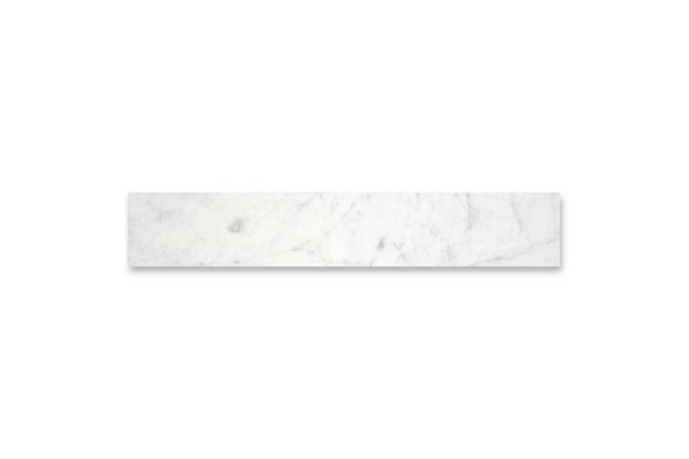 Soleira em Mármore Polido Borda Reta Branco 82x35cm - Villas Deccor
