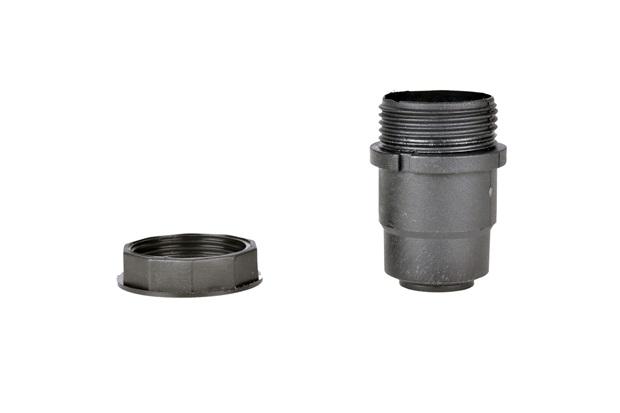 Soquete com Rabicho para Coluna de Abajur E27 Bivolt Preto - Kit-Flex