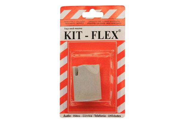 Soquete em Porcelana para Lâmpada E 27 Cinza  - Kit-Flex