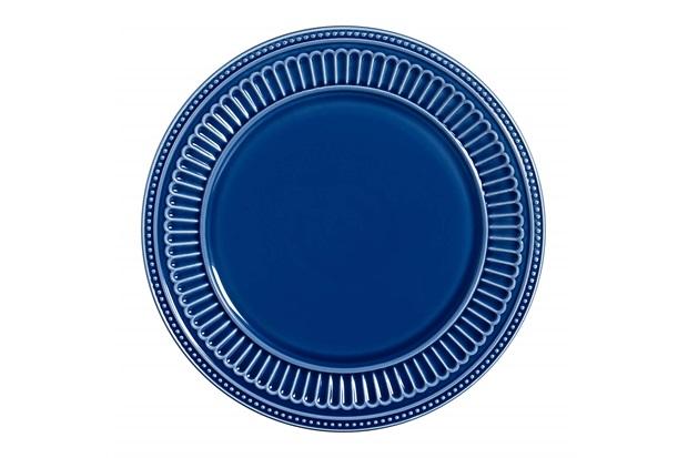 Sousplat em Cerâmica Poppy 34cm Azul - Scalla