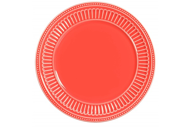 Sousplat em Cerâmica Poppy 34cm Coral - Scalla