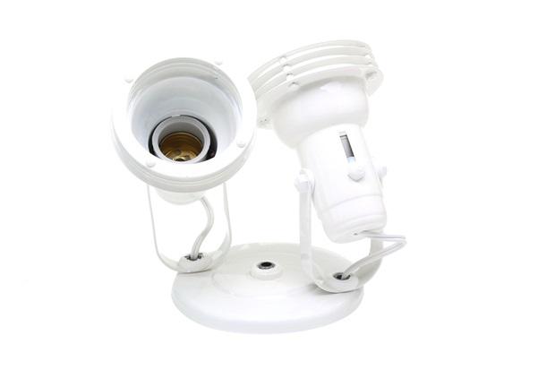 Spot com Aro Branco para 2 Lampadas - Ref: Mf:350/2                - Franzmar