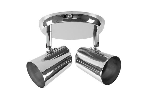 Spot de Arco para 2 Lâmpadas New Short 15x13,5cm Cromado - Bronzearte
