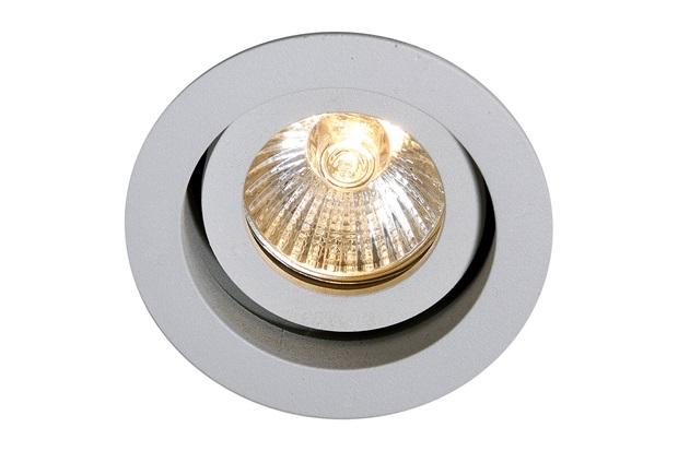 Spot de Embutir Redondo Basculante Microgranulado 8cm Branco - Bronzearte