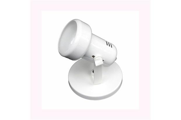 Spot de Sobrepor em Alumínio para 1 Lâmpada Baulado Branco - Auremar