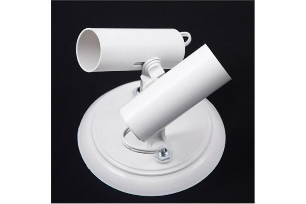 Spot de Sobrepor em Alumínio para 2 Lâmpadas Tubo Branco - JM Iluminação