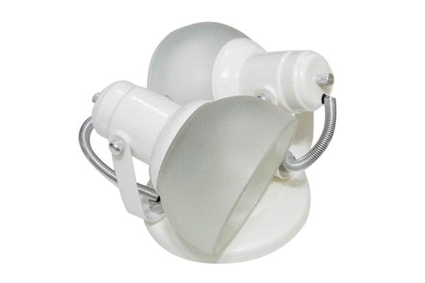 Spot de Sobrepor para 2 Lâmpadas com Vidro Branco - Franzin