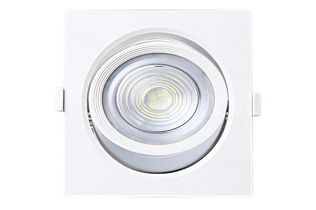 Spot Led de Embutir Quadrado Alltop 10w Autovolt 6500k Luz Branca - Taschibra