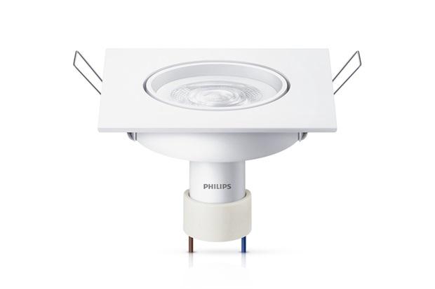 Spot Led de Embutir Quadrado Gu10 Amarela 5w Bivolt - Philips