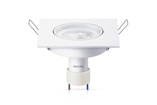 Spot Led de Embutir Quadrado Gu10 Branca 5w Bivolt - Philips