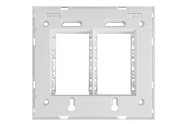 Suporte 4x4 Horizontal Branco - Simon