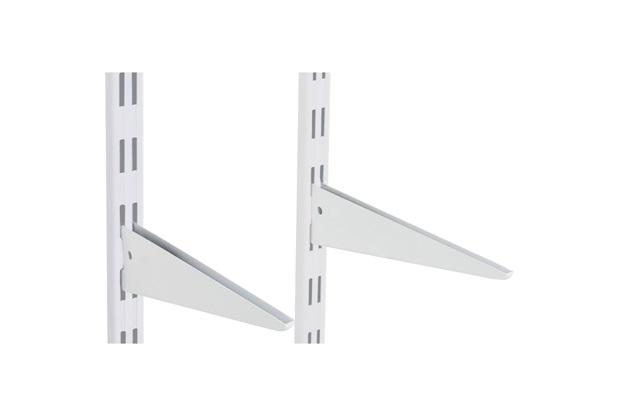 Suporte Duplo em Aço para Trilho 27cm Branco - Multivisão