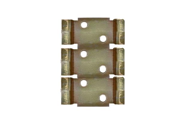 Suporte em Metal para 3 Dijuntores Din Bricromatizado - Kit-Flex