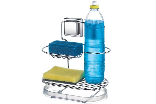 Suporte para Detergente E Sabão Fixa Cromado - Arthi