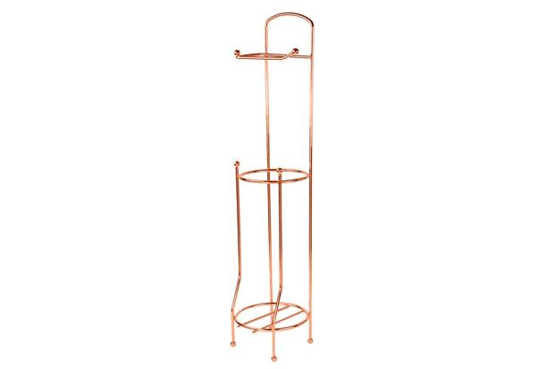 Suporte para Papel Higiênico de Chão em Aço 65x15,2cm Rose - Casanova
