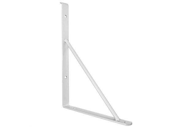 Suporte para Prateleira de Vidro 25cm 1m/M Branco 2 Peças - Zamar