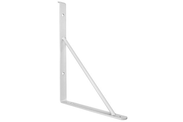 Suporte para Prateleira de Vidro Branco 30cm 2 Peças - Zamar
