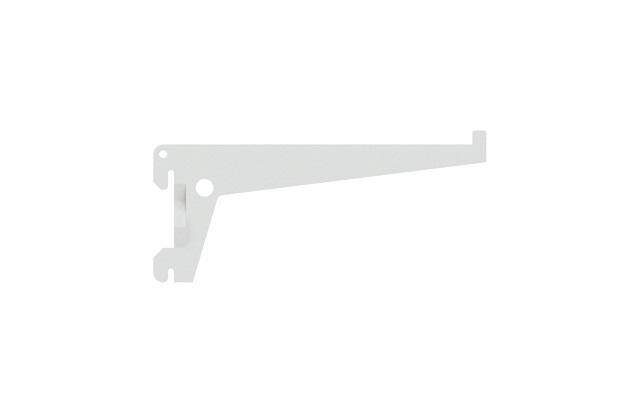 Suporte para Trilho Simples Encaixe 25cm Branco - Brasforma