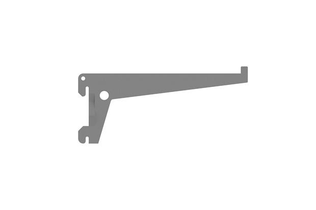 Suporte para Trilho Simples Encaixe 25cm Prata - Brasforma