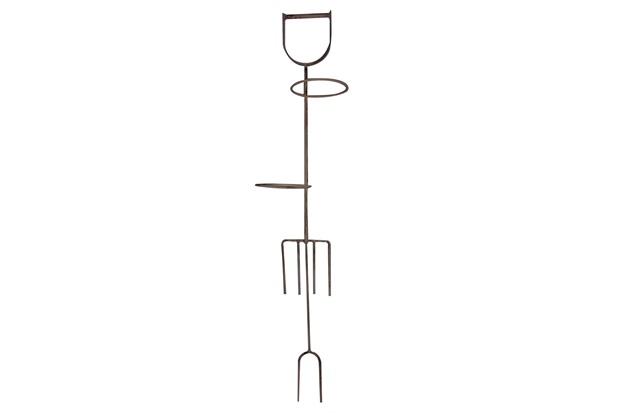 Suporte para Vaso em Ferro 95x17cm Bege - Império Decore