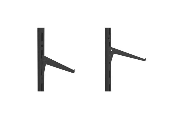 Suporte Simples para Trilho em Aço Decore 25cm Preto - Multivisão