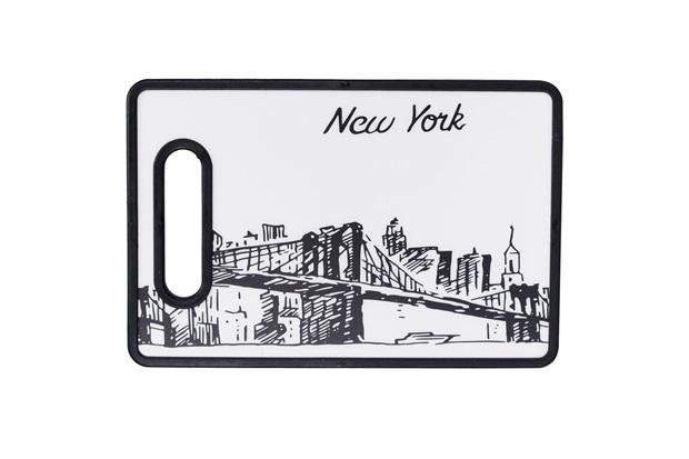 Tábua de Corte New York 20x30cm Preta E Branca - Casanova