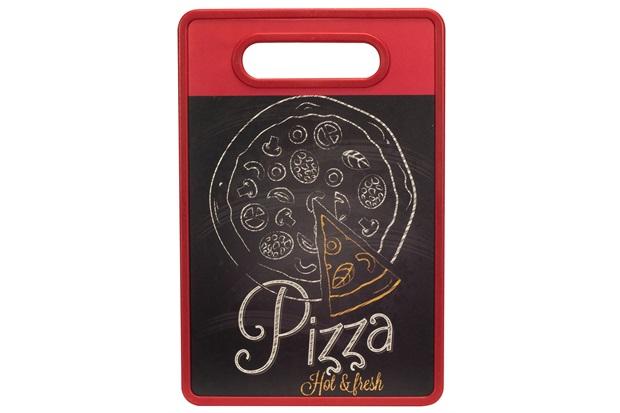 Tábua de Corte Pizza 20x30cm Vermelha - Casanova