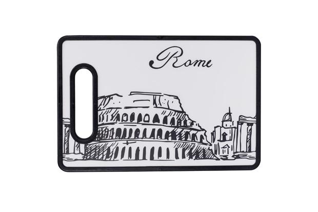 Tábua de Corte Roma 20x30cm Preta E Branca - Casanova