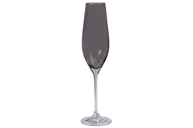 Taça de Champagne em Cristal Prestige 210ml Fumê - Casa Etna