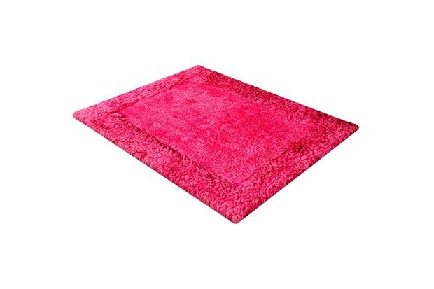 Tapete de Banho em Poliéster Levitare Tranquilidade 70x50cm Rosa - Casa Etna