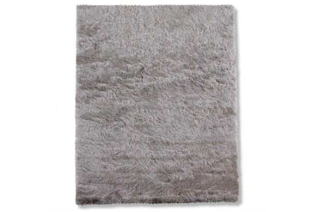 Tapete em Poliéster New Agra 200x150cm Prata - Casa Etna