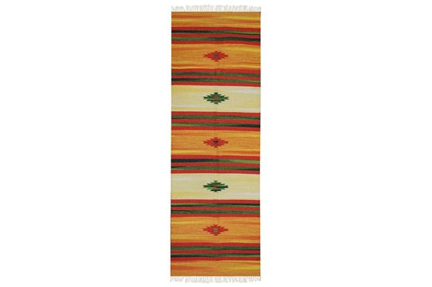 Tapete Indiano em Algodão Kilim Desenho 02 com 200x250cm Colorido - Niazitex