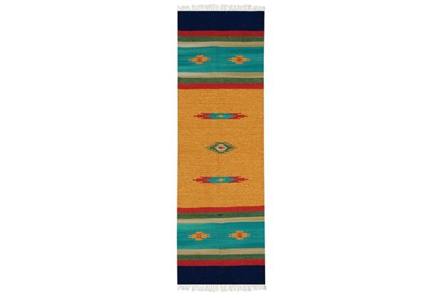 Tapete Indiano em Algodão Kilim Desenho 03 com 140x200cm Colorido - Niazitex