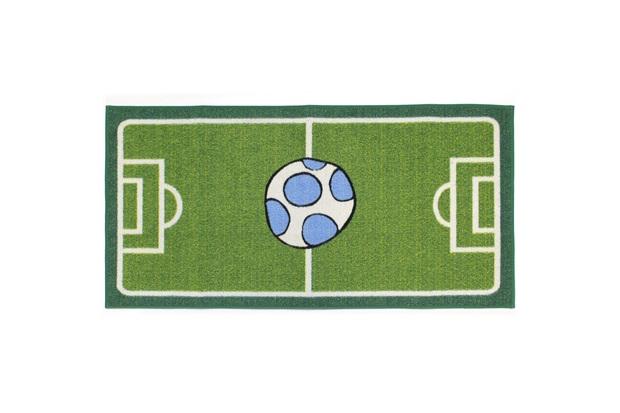 Tapete Infantil Clean Kasa Futebol Verde 75x100cm - Kapazi