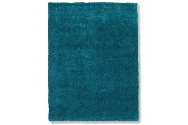 Tapete May Poliéster 200x150cm Azul Petroleo - Casa Etna