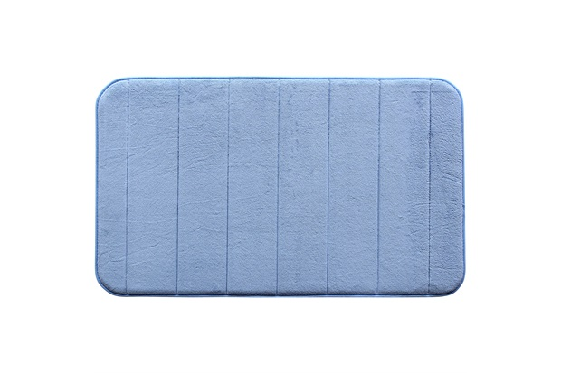 Tapete para Banheiro Plush Azul Claro - Casanova