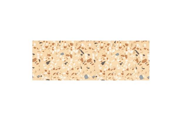 Tapete para Cozinha Tropical Terrazzo Color 43x130cm Creme - Kapazi