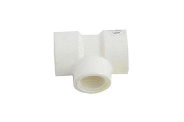 Tê de Redução 90° com Rosca 1''X3/4'' Branco - Tigre