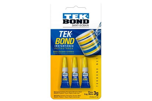 Tekbond Instantânea Trio 1g com 3 Unidades - Tekbond