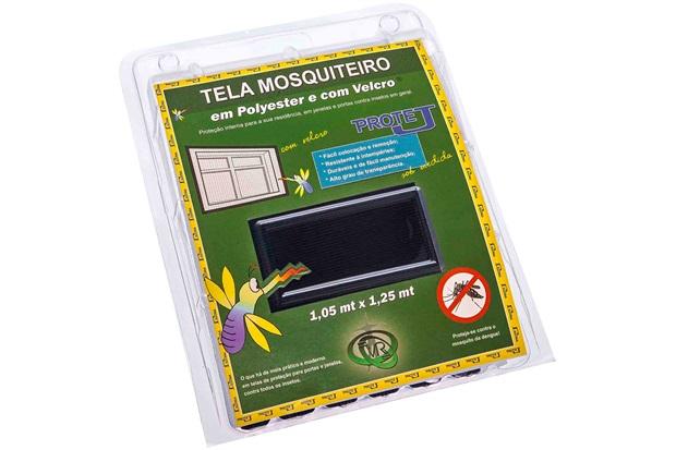 Tela Mosquiteiro em Poliéster Protej com Velcro 125x105cm Preta - VR