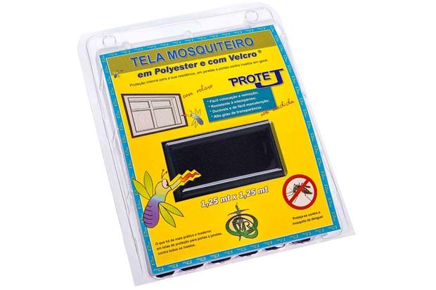 Tela Mosquiteiro em Poliéster Protej com Velcro 125x125cm Preta - VR