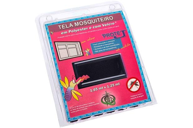Tela Mosquiteiro em Poliéster Protej com Velcro 125x165cm Preta - VR