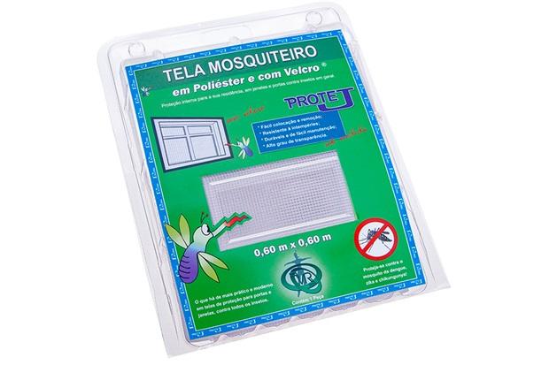 Tela Mosquiteiro em Poliéster Protej com Velcro 60x60cm Branca - Protej