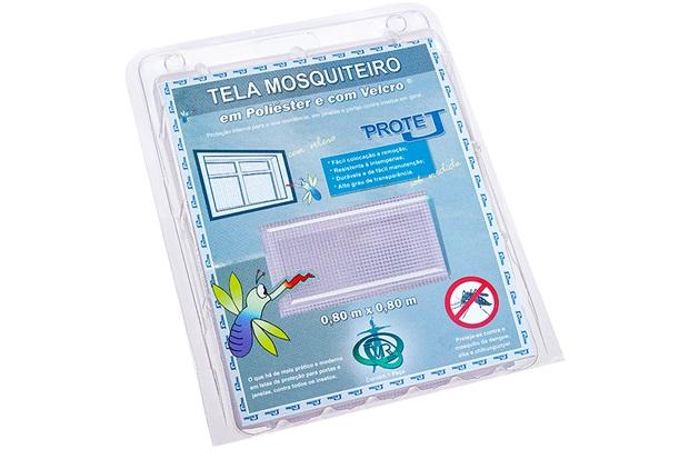 Tela Mosquiteiro em Poliéster Protej com Velcro 80x80cm Branca - Protej
