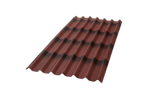 Telha Ecológica Stilo 3d Vermelha 195x96cm - Onduline