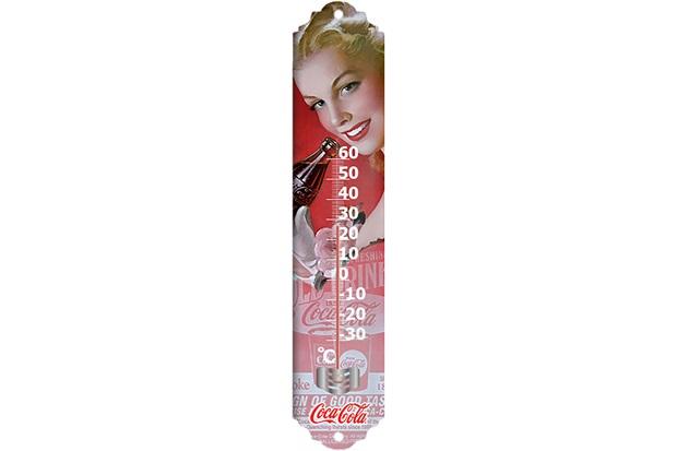 Termômetro Metal Coca-Cola Pin Up Blond Ladyface - Urban