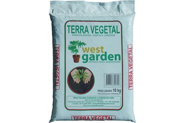 Terra Vegetal Saco com 10kg - West Garden